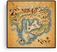 Kanto Map Canvas Print