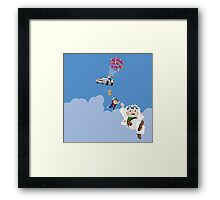 Up to the future Framed Print