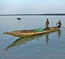 Guinea Bissau fisher boys by SenegalSean