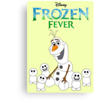 Olaf and his little buddies Canvas Print