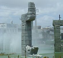 Mayan Fountain by Elizabeth Brimhall