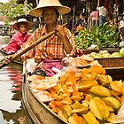 Fruit Boat at Floating Market by Dan Sweeney