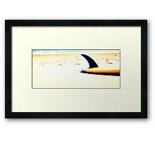 Blue Single Fin Framed Print