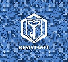 RESISTANCE Digital Camouflage - Ingress by trebory6
