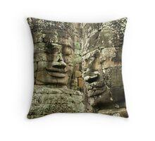 Heads of Stone Throw Pillow