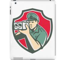 Policeman Speed Camera Shield Retro iPad Case/Skin
