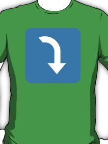 Arrow Pointing Rightwards Then Curving Downwards Twitter Emoji T-Shirt