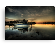 reflections on dawn Canvas Print