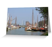 The Harbour and the Castle - along the river Vecht Greeting Card