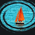 Orange Sails by lynn carter