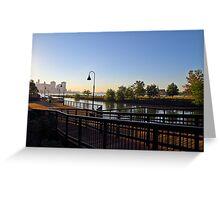 Lower Jersey City & Lower Manhattan Greeting Card