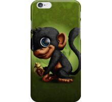 Cute Monkey eating banana iPhone Case/Skin