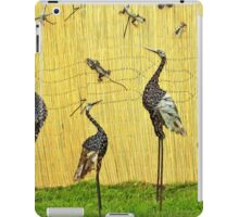 A sedge of cranes iPad Case/Skin