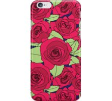 Vintage Victorian Red Rose Flower Pattern iPhone Case/Skin