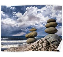 Cairns and Clouds Poster