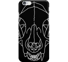 dead cat #white iPhone Case/Skin