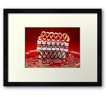 Ribbon Candy Framed Print