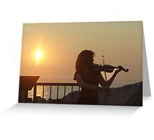 Serenade at Sunset Greeting Card