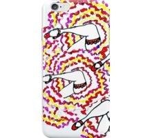 Gems & Frills on Red iPhone Case/Skin