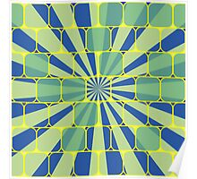 Abstract geometric blue Poster