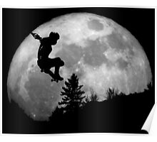 Skate on the moon Poster