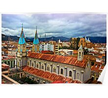 Looking Over San Alfonso, Cuenca, Ecuador Poster