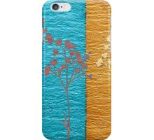 Blue and Gold Abstract Art iPhone Case/Skin
