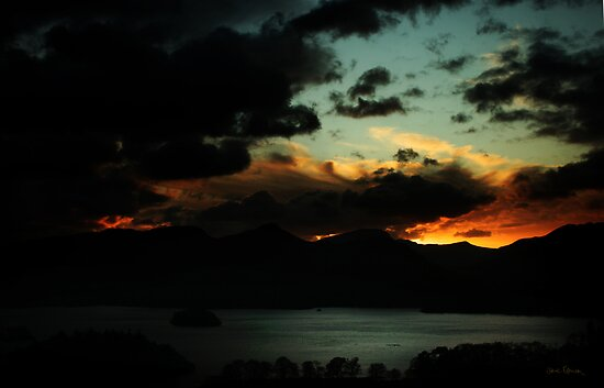 Sunset over Derwentwater by David Robinson