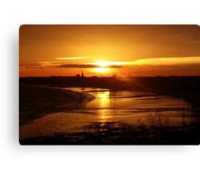 Sunset over Bridlington Canvas Print