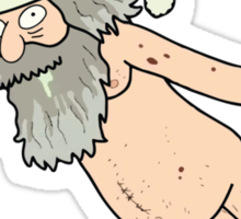 Rick & Morty - Giant Naked Sky Santa! Sticker