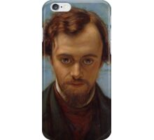 Portrait of Dante Gabriel Rossetti at 22 years of Age by William Holman Hunt iPhone Case/Skin