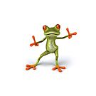 Frog funny guy by Tony  Bazidlo