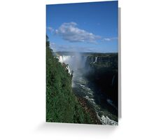 Iguacu falls  Greeting Card