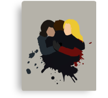 Swan-Mills Family Hug Canvas Print