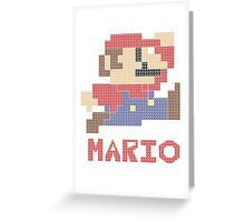 Pixel Mario Greeting Card