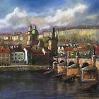 Wonderfull Prague in pastel by Yuriy Shevchuk by Yuriy Shevchuk