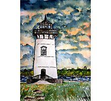 Edgartown Lighthouse Painting Marthas Vineyard Massachusetts Photographic Print