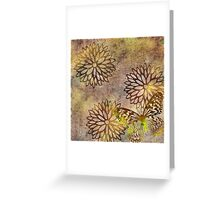 Bronze Flowers and Gold Butterfly Greeting Card