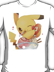 Pikachu Loves Ketchup on Ice Cream T-Shirt
