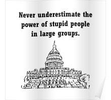 Stupid Politicians Poster