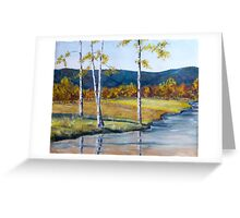 Fall Birches Greeting Card