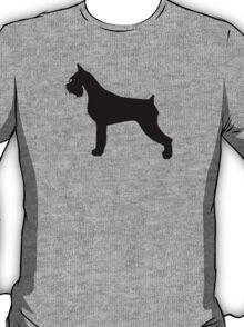 Schnauzer Dog Silhouette T-Shirt