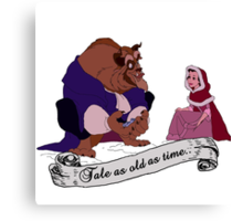 """Tale as old as time..."" - Beauty and the Beast Canvas Print"
