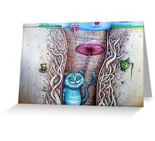 down the rabbits hole  Greeting Card