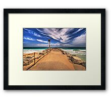 City Beach Groyne Framed Print