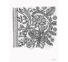 Floral Lace Illustration Photographic Print
