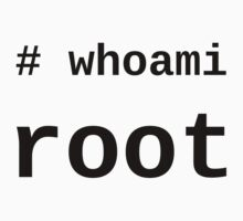 whoami root - light shirt for sysadmins T-Shirt