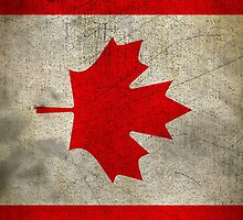 Grunge Canada Flag by sale