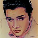 ELVIS DRAWING by DALE CRUM