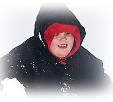 Michael Happy Playing In The Snow by Jonice